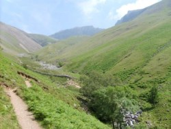 Heading through Lingmell Gill after two paths meet