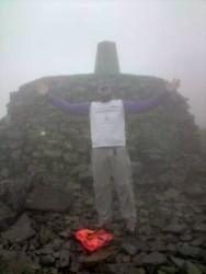 Kevin at the summit of Ben Nevis