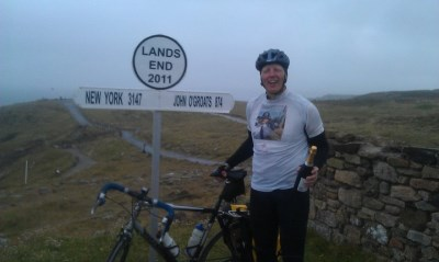 Kevin completes the Three Peaks Challenge as part of a cycle ride from John o'Groats to Lands End
