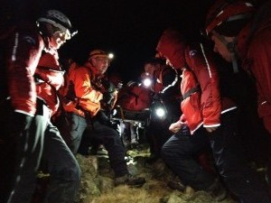 Mountain Rescue at night