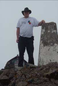 Doug at the summit trig point