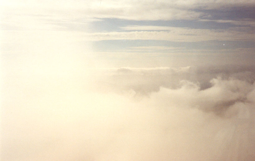 Misty view from Snowdon Summit