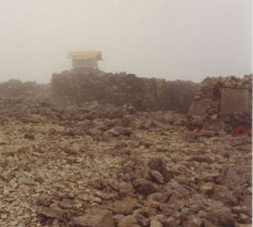 Ruins of old observatory on Ben Nevis