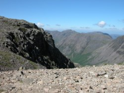Boulder strewn path to Scafell Pike