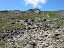 Rocky path up Scafell Pike