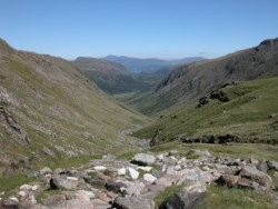 Looking back towards Seathwaite