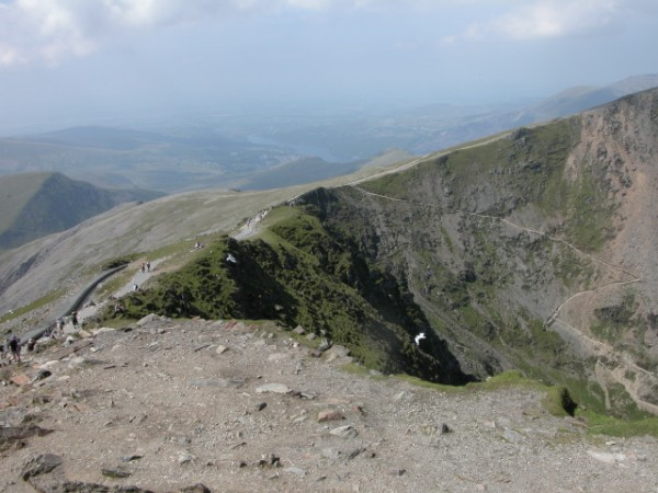 Walking up Mount Snowdon