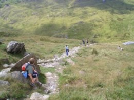 The Watkins Path up Mount Snowdon