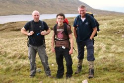 Stopping for a breather on the Three Peaks Challenge