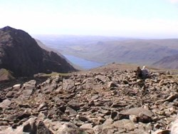 View from Scafell Summit